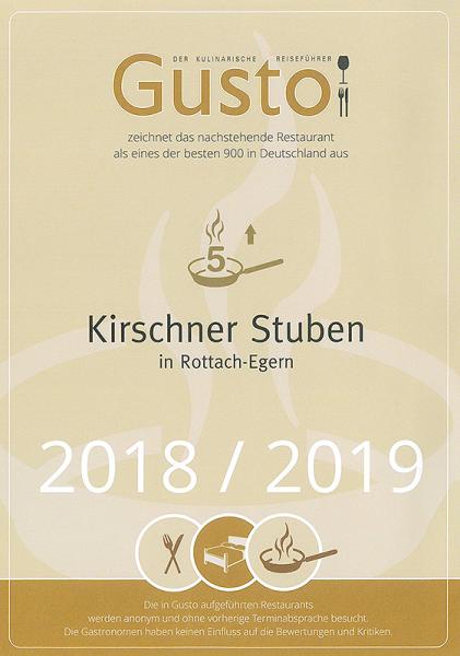 Gusto Auszeichnung 2018/2019