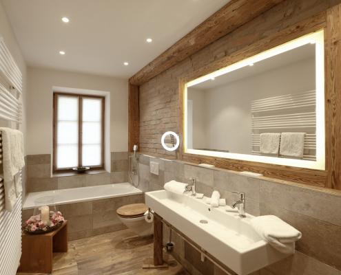 Badezimmer im Seeblickzimmer