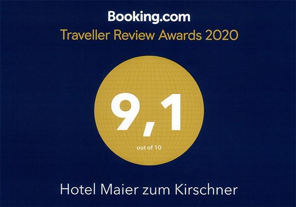 Booking.com Award Hotel Maier zum Kirschner