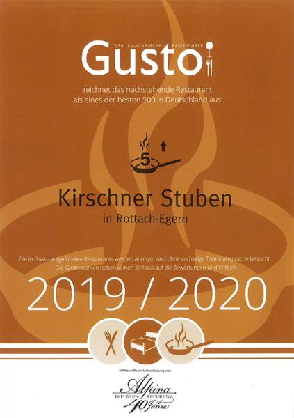 Der kulinarische Gusto 2020