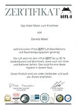 HYLA Luft-Desinfektion & Raum-Hygiene